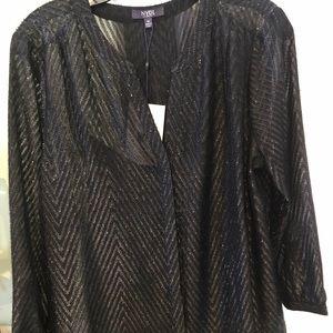 Black sparkle blouse